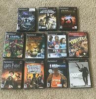 Lot Of 11 PS2 PlayStation 2 Games Star Wars, Soccer, NBA, Guitar, Harry Potter +