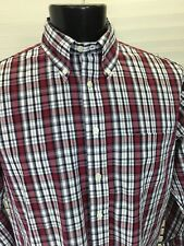 Mens Brooks Brothers 346 Long Sleeve Shirt Sz L Striped Red Black White Excellen