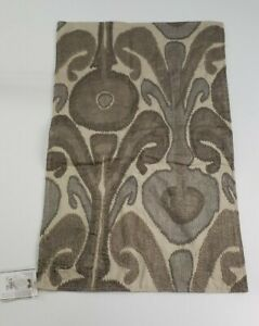 """Pottery Barn Kenmare Embroidered Lumbar Pillow Cover  16"""" x 26""""  Neutral"""
