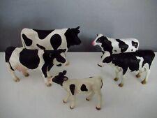Lot Figurines Taureau Vache Veaux Schleich Papo Bruder Holstein