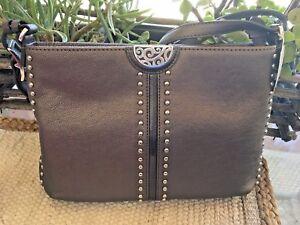 Brighton NWT Pretty Tough Rex Leather CRossbody Purse/Handbag