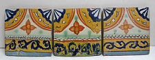 Set of 3 Vintage Mexican Decorated Tiles