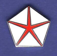 DODGE PENTA STAR HAT PIN LAPEL TIE TAC ENAMEL BADGE RED #0154