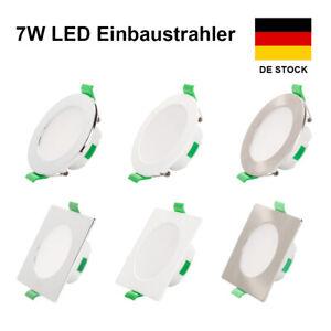 LED Einbaustrahler Flach Panel Leuchte Dimmbar Deckenlampe 230V Strahler Spot
