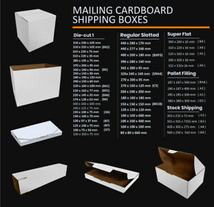 Mailing Box Cardboard Shipping Packing Mailer Parcel Boxes Small Medium Large