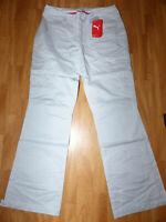 Neue PUMA Damen Golf Herringbone Hose Pants Gr 38 (M) Grau Seitentaschen Slim