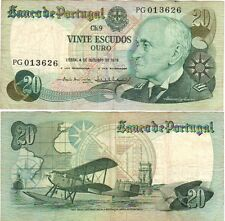 Portugal 20 Escudos Banknote **RARE**