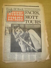 NME 1973 OCT 6 FACES ROD STEWART WHO SUZI QUATRO BRUCE SPRINGSTEEN BOWIE