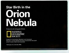 ⫸ 1995-12 December Star Birth in ORION NEBULA National Geographic Map Heavens