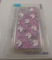 fits iPhone 6 plus, 7 & 8 + plus phone case Unicorn glitter white pink