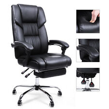 Drehstuhl Bürostuhl Chefsessel mit Fußablage Lendenkissen Stuhl OBG71B