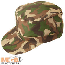 Camouflage Army Cap Adult Military Uniform Fancy Dress Soldier Costume Accessory