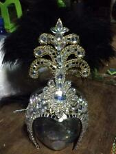 Free Shipping Black Cabaret Show Dancer Headdress Crown Tiara from Thailand