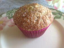 8 HOMEMADE Gluten-Free BANANA OATMEAL SPICE MUFFINS * dairy-free *very low sugar