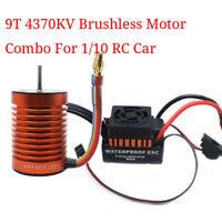 For 1/10 RC Car 9T 4370KV Brushless Motor + 60A ESC Speed Controller Combo ME720