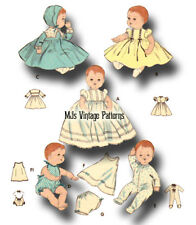 """Vintage Baby Doll Clothes Pattern ~ 20"""" Tiny Tears, Betsy Wetsy, Dy Dee"""