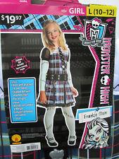 Monster High FRANKIE STEIN Girls L (10-12) Halloween Dress-Up Costume NEW