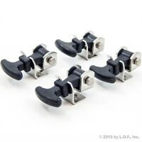 """(4) 2-1/2"""" Stainless Steel Rubber Hood Battery Box Compartment Latch Catch 2.5"""""""