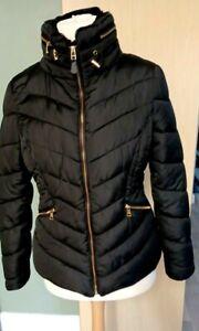 Ladies Womens Puffa Padded Winter Jacket Black Size 12 Ex Cond