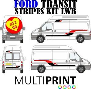 Ford Transit LWB Vinyl Stripes Stickers Decals Camper Van ST Motor Home STR2