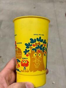 VERY RARE Vintage McDonald's McDonaldland Plastic Cup Tree Ronald Hamburglar