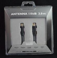 3 M Cable coaxial de extensión Alta Calidad Pl Para Skt Chapado en Oro 110db (L12042)