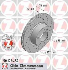 ZIMMERMANN Sport Disques De Frein Jeu BMW 5er e34 540i 7er e32 730-750i avant