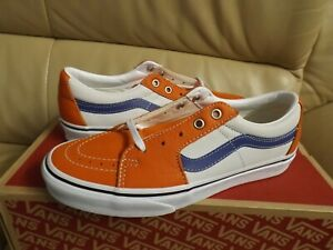Vans Sk8-Low Leather Men's Size 8.5 Skate Shoes Orange/White/Blue VN0A4UUK2S2