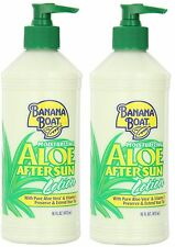 ( 2 ) Banana Boat Aloe Aftersun Lotion - 16 oz Last Set !