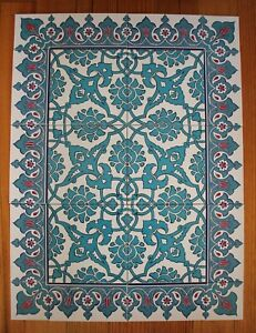 Iznik Design Turkish Tile Panel Set, 20 piece Wall Feature -Splashback -Combo 25