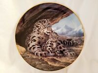 The Snow Leopard Baby Bradford Exchange Plate W.S. George Will Nelson 1989