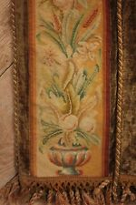 Antique French Arts & Crafts  needlepoint border textile tapestry