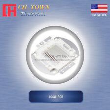 1pcs 100w Watt High Power 4pin Rgb Tri Color Common Anode Smd Led Chip Cob Lamp