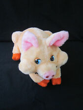 "VTG RUSHTON TOY COMPANY ATLANTA GA STUFFED PLUSH pink PIG 16"" long"