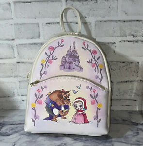 Loungefly Disney Beauty And The Beast Chibi Characters Mini Backpack NWT