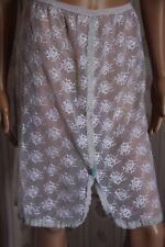 RARE  JUPON  nylon vintage brodé LOU SLIP unterkleid full slip REF1524
