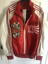 Ed Hardy Christian Audigier Leather Jacket Limited Edition Vintage NWT Japan XL
