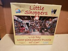 Jig Saw Puzzle Suns Out Planters Peanut Little Shoppers 1000 Piece Lot#61