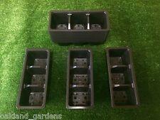 100 x confezioni Trolley 3 Cella INSERTI IN PLASTICA VASSOI VASSOIO semi seme vendita Pack