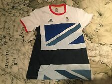 TEAM GB Andy Murray Tennis Shirt London 2012 Olympic Games Adidas Not Davis Cup