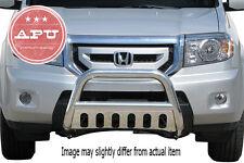 """2009-2014 Honda Pilot Stainless Bull Bar + 3"""" LED Off Road Fog Lights"""