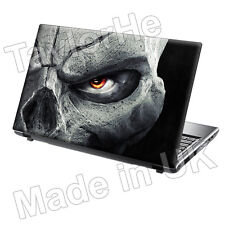 "15.6"" TaylorHe Laptop Vinyl Skin Sticker Decal Cool Skull Dark Art Gothic"