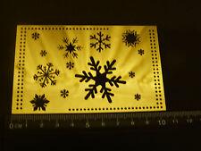 Brass / Multi / stencil / Emboss / Xmas / Snowflake / Star / Christmas