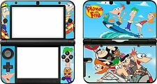 Nintendo 3DSXL 3 DS XL PHINEAS AND FERB vinyl skin sticker decal sticker