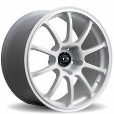 18X9 ROTA G FORCE WHEELS 5X114.3 WHITE RIMS FITS ECLIPSE (TC 2010-2014)