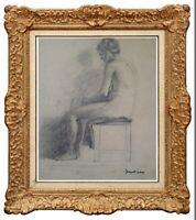 JACQUES NAM (1881-1974) OEUVRE ORIGINALE RARE NU FEMININ VERS 1930 (75)