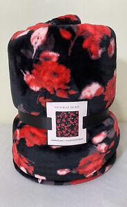 NWT Victorias Secret Floral Sherpa Blanket 50in X 60in