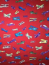 Fabric Freedom 100% Cotton AIRPLANES PROPELLER Craft/Fashion Fabric Material