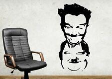 Dick und Doff Laurel Hardy Wandtattoo Wallpaper Wand Schmuck 56 cm Wandbild