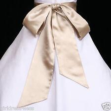Self-Tied Wedding Flower Girl Dress Sash Waistband Belt 12M 2 4 6 8 10 12 14 16